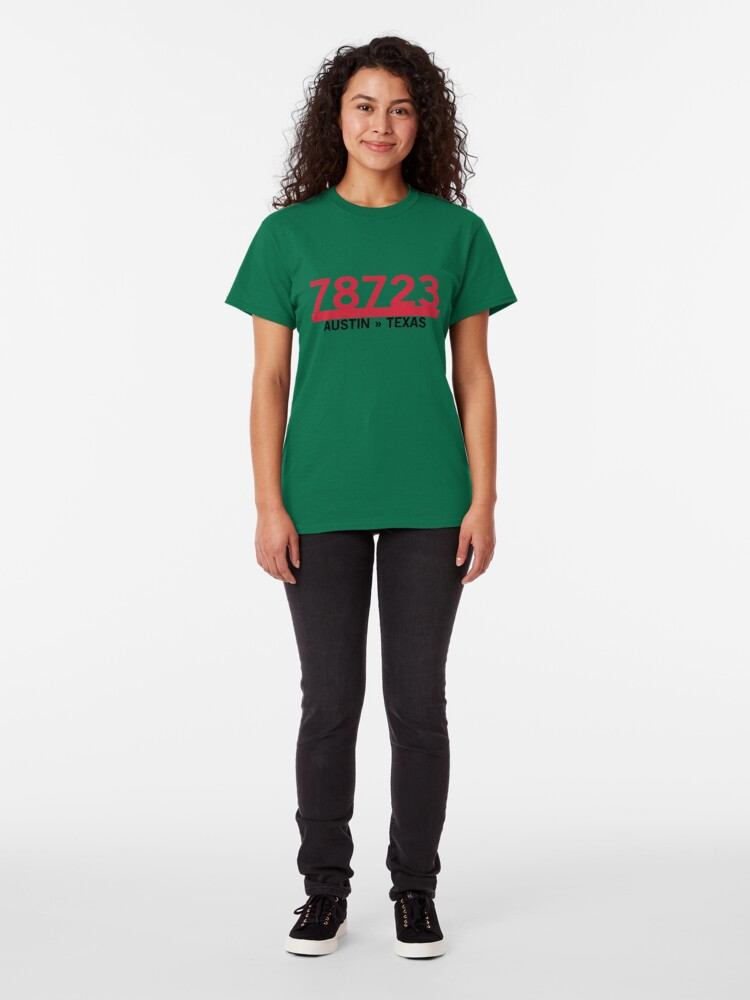 Alternate view of 78723 - Austin, Texas ZIP Code Classic T-Shirt