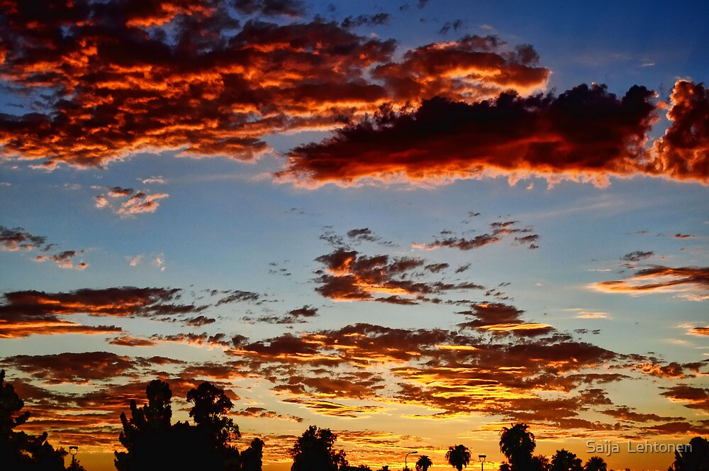 Red Clouds by Saija  Lehtonen
