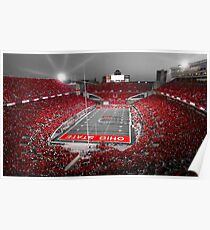 """""""A Scarlet Stage"""" Ohio State Buckeyes Prints, Cards, More Poster"""