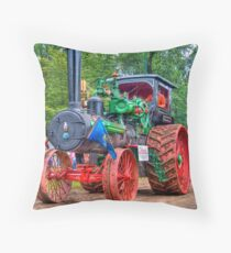 110 hp Case Steam Tractor Throw Pillow