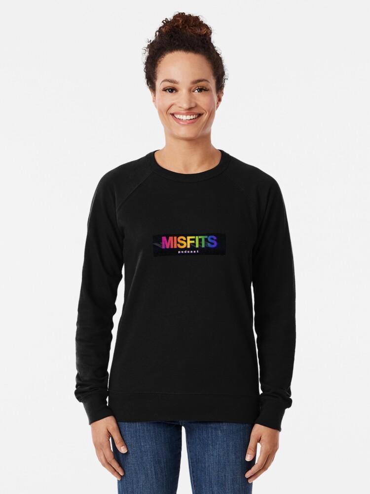 Alternate view of Misfits Podcast Logo Lightweight Sweatshirt