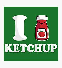 I Heart Ketchup Photographic Print