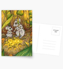 Hunting Lessons - Tribal Mice in the Jungle Postcards