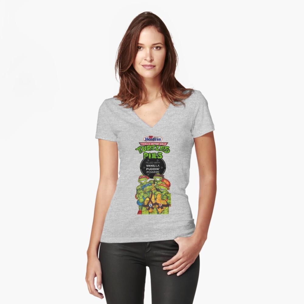 Tortas Ninja Tortugas Camiseta entallada de cuello en V