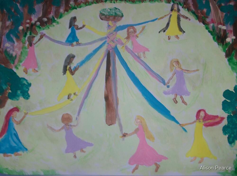 Pastel Maypole by Alison Pearce