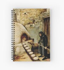 Baking bread - colour drawing Spiral Notebook