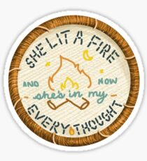 Lord Huron She Lit a Fire Embroidery Style Patch Sticker