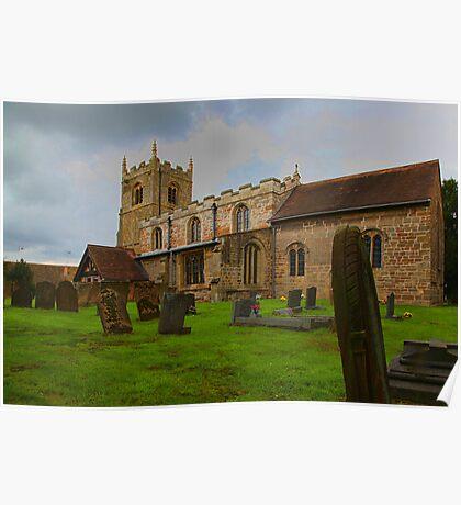 St Edmunds Church Walesby, notts Poster