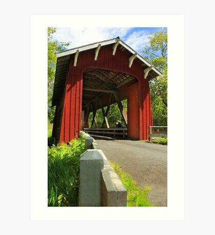 Brookwood Covered Bridge Art Print