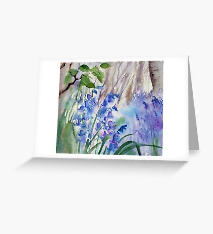 Impression Bluebells Greeting Card