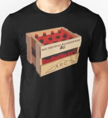 Hand Drawn New Zealand Crate - Red Slim Fit T-Shirt