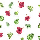 Tropical leaf pattern by ArtByMichelleT