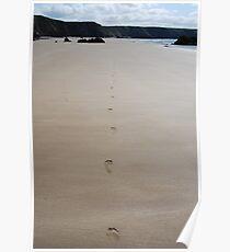 Landscape, footprints - Marloes Sands Poster