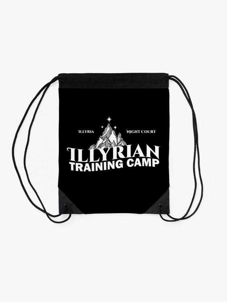 Alternative Ansicht von Illyrisches Trainingslager, Cassian, Azriel, Rhysand, ACOTAR, Nachtgericht, Dornen und Rosen Turnbeutel