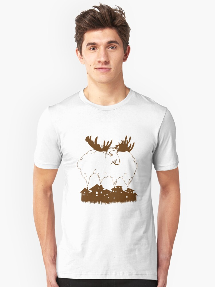 smoky moose Unisex T-Shirt Front