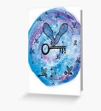 Flying Keys Greeting Card