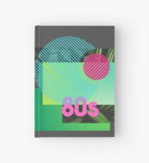 Abstract Design Art 80s Style Hardcover Journal
