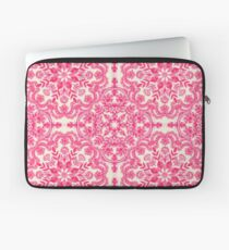 Hot Pink & Soft Cream Folk Art Pattern Laptop Sleeve