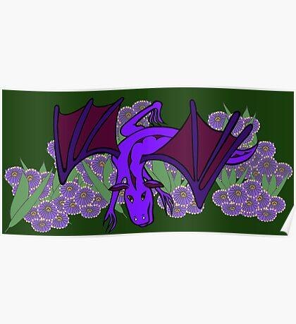 Purple Dragon at play Poster