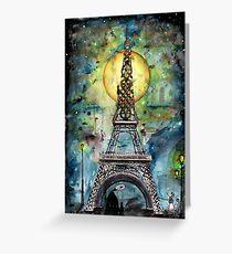 Paris ... nur das Licht zerstört die Dunkelheit Grußkarte