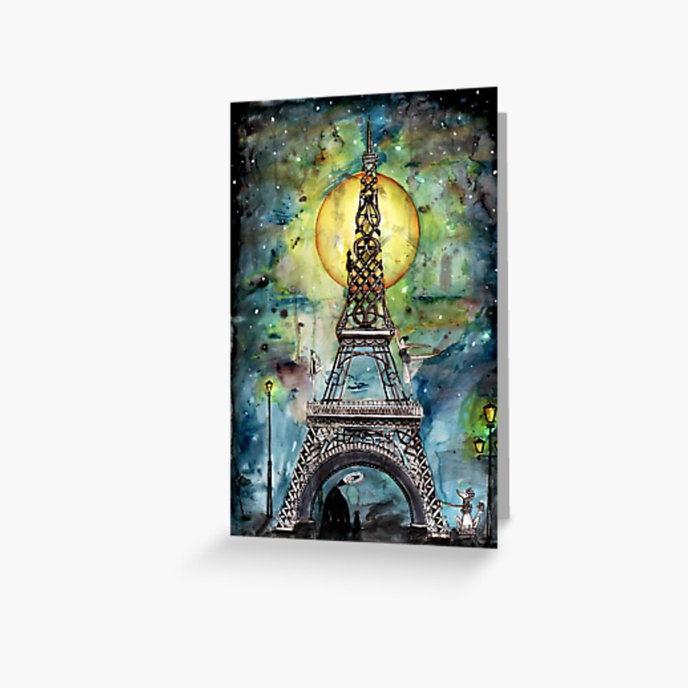 Paris... only light destroys darkness Greeting Card