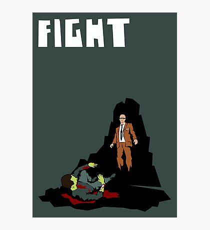 Fight. (Man v. Zombie) Photographic Print