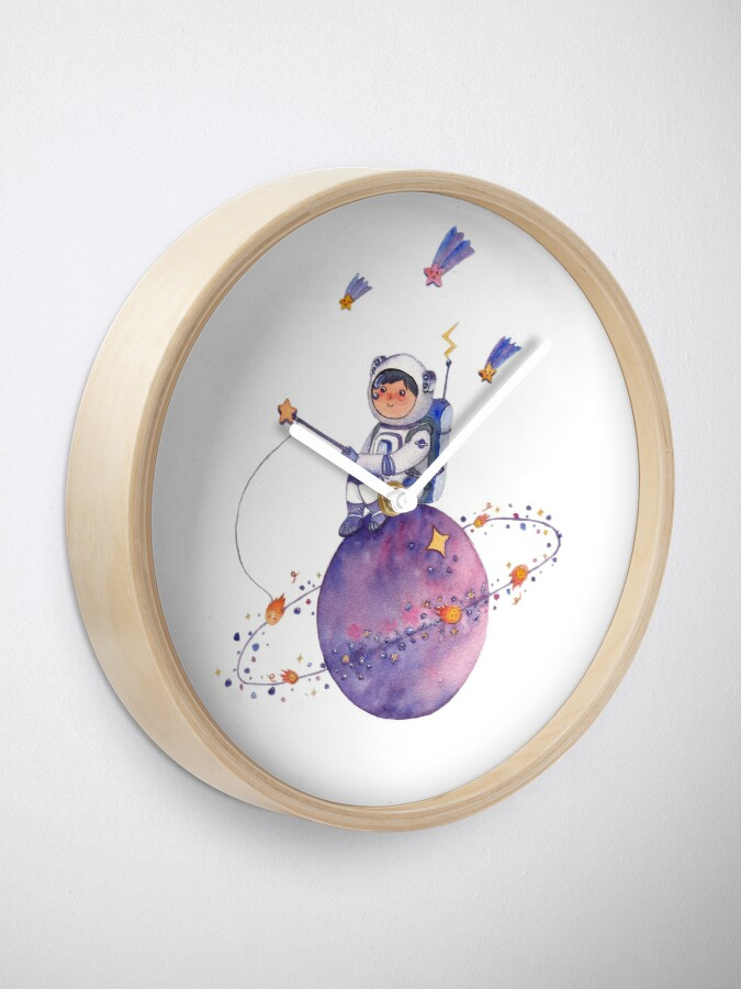 Alternate view of Astronaut catching Asteroids on a Star Clock