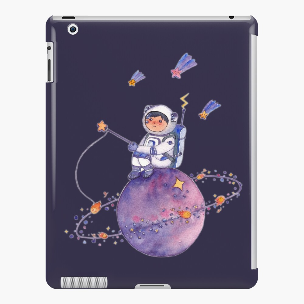 Astronaut catching Asteroids on a Star iPad Case & Skin