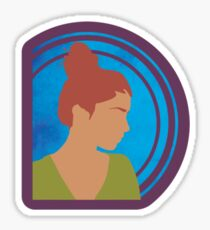 Silhouetted Redhead Girl Sticker