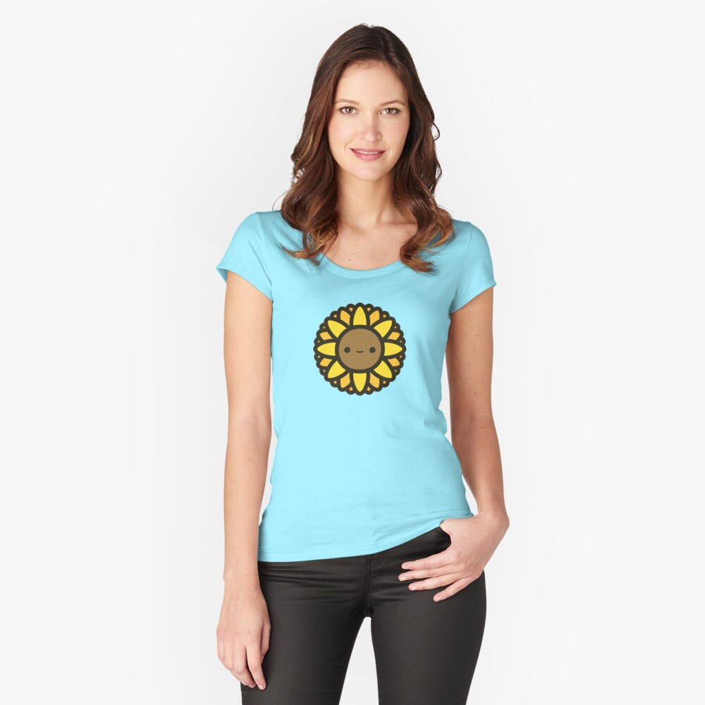Cute sunflower Fitted Scoop T-Shirt