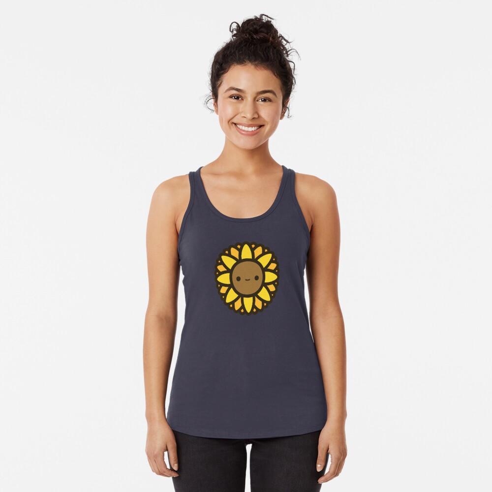 Cute sunflower Racerback Tank Top