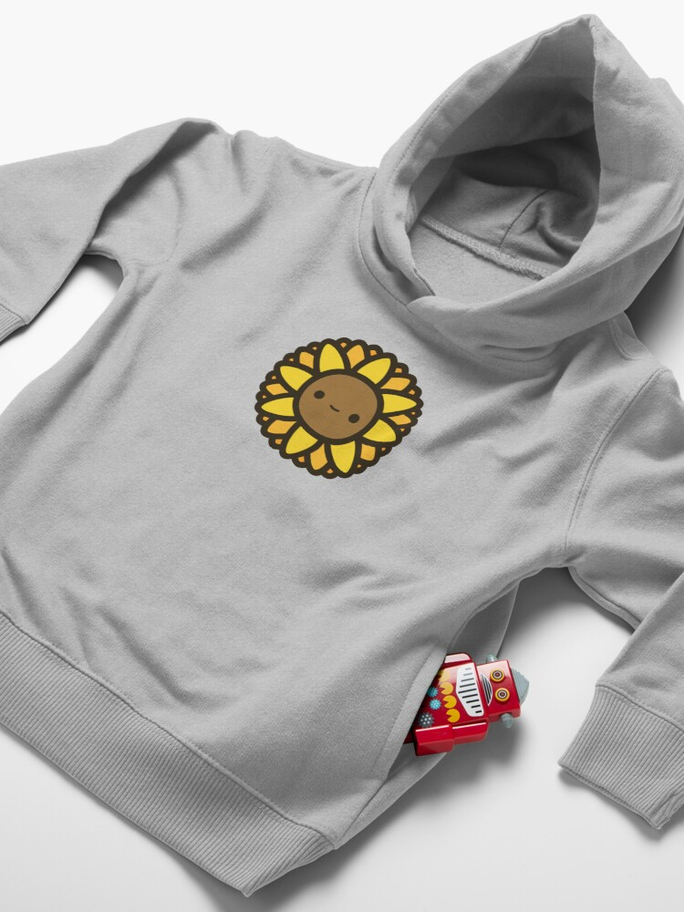 Alternate view of Cute sunflower Toddler Pullover Hoodie