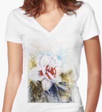 Floral Fantasy Fitted V-Neck T-Shirt