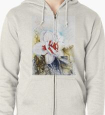 Floral Fantasy Zipped Hoodie