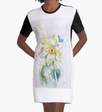 Daffodil Dance Graphic T-Shirt Dress