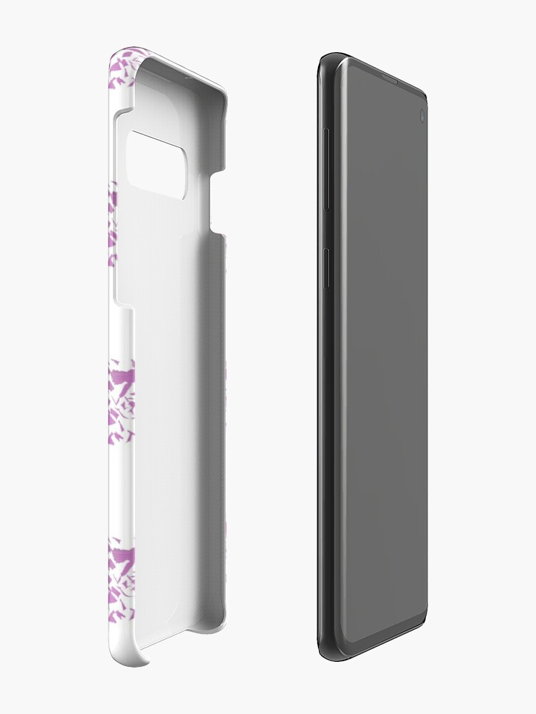 Alternate view of Modern abstract violet purple watercolor geometrical stripes Case & Skin for Samsung Galaxy
