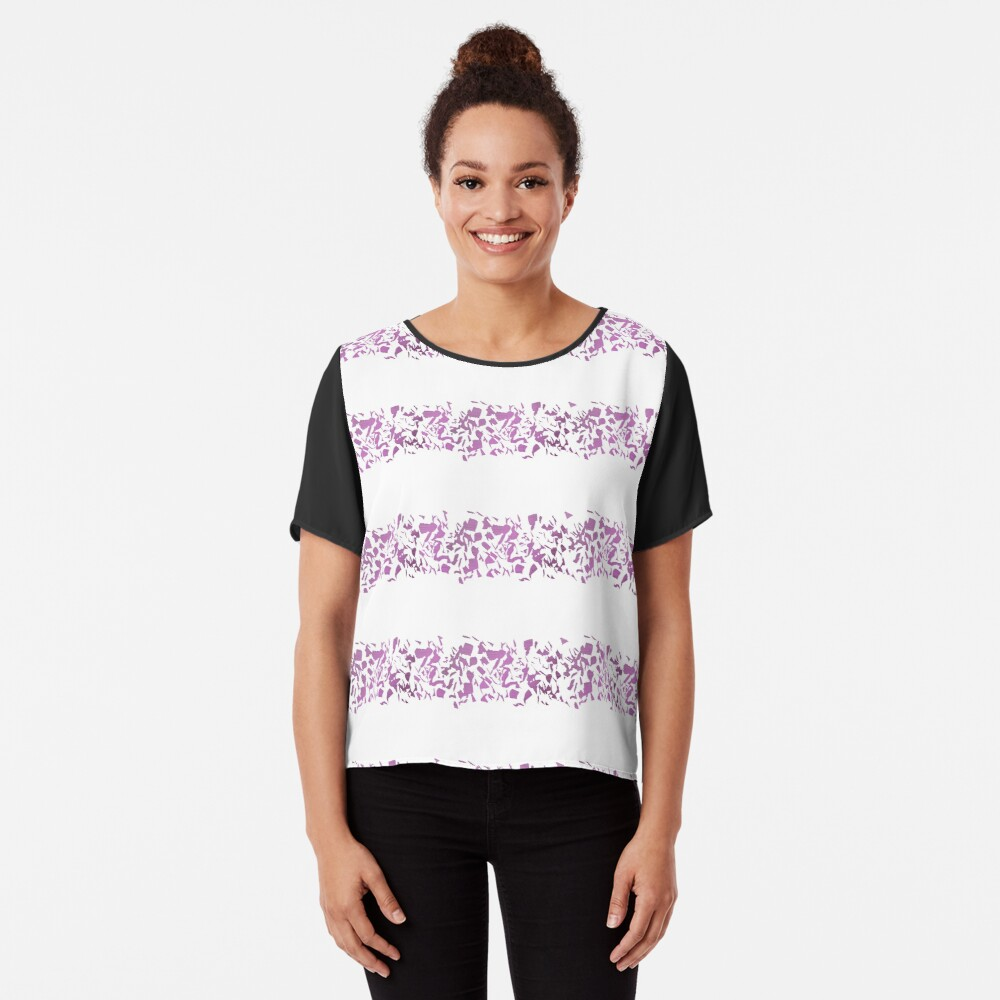 Modern abstract violet purple watercolor geometrical stripes Chiffon Top