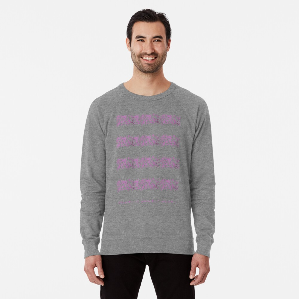 Modern abstract violet purple watercolor geometrical stripes Lightweight Sweatshirt