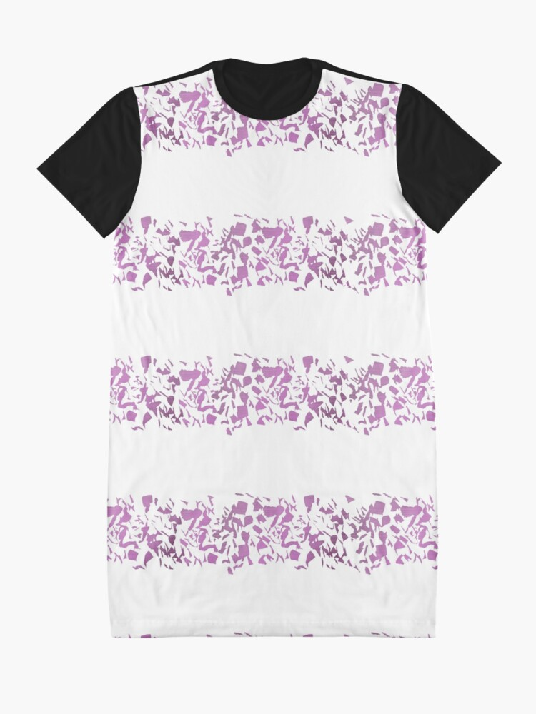 Alternate view of Modern abstract violet purple watercolor geometrical stripes Graphic T-Shirt Dress
