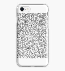 Keith Haring Inspired Doodle iPhone Case/Skin