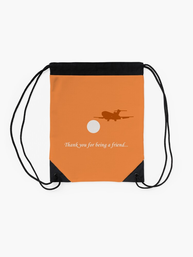 Alternate view of Thank You For Being a Friend! II Drawstring Bag