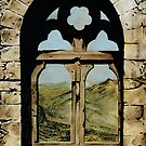 Queens Window - colour drawing by talesofcyprus