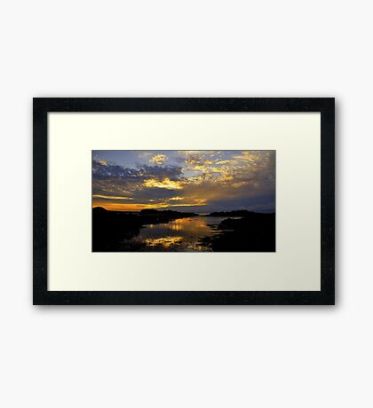 Sunset at Skerries. Framed Print