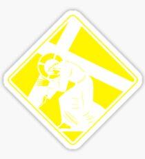 Jesus on a Crosswalk  Sticker
