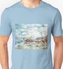 Sailboat At The Seashore T-Shirt