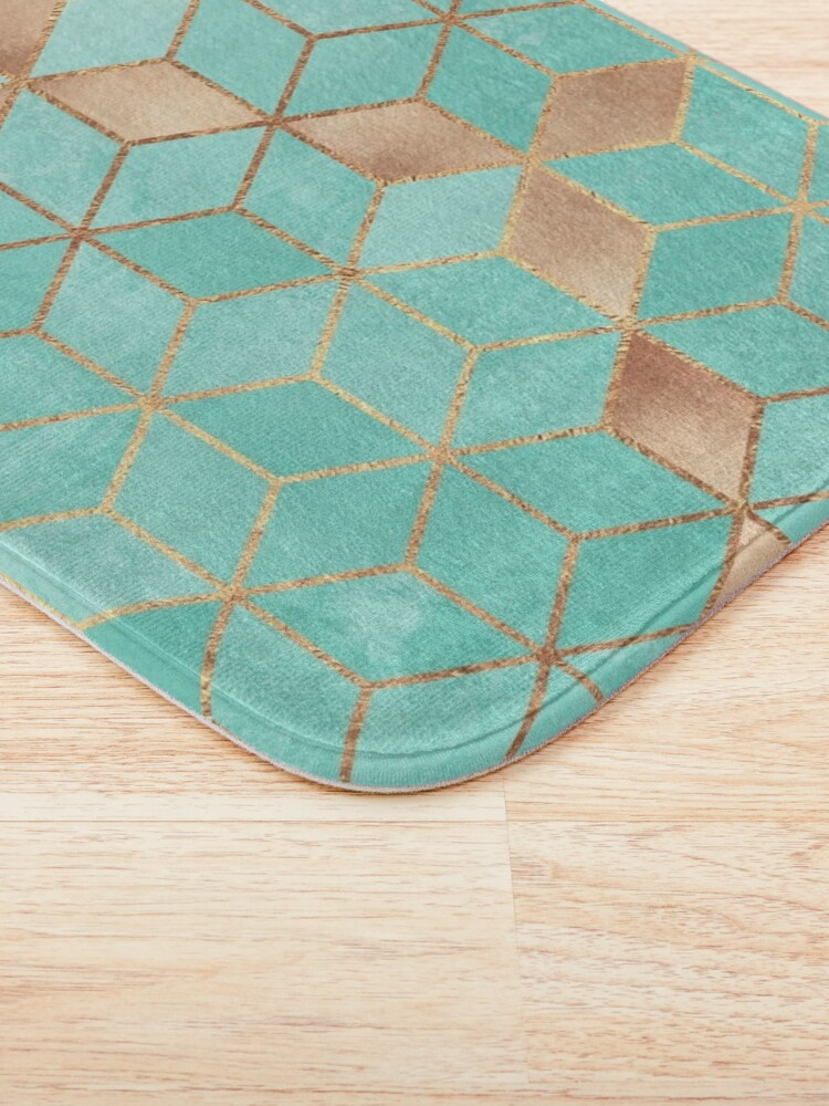 Alternate view of Soft Gradient Aquamarine Bath Mat