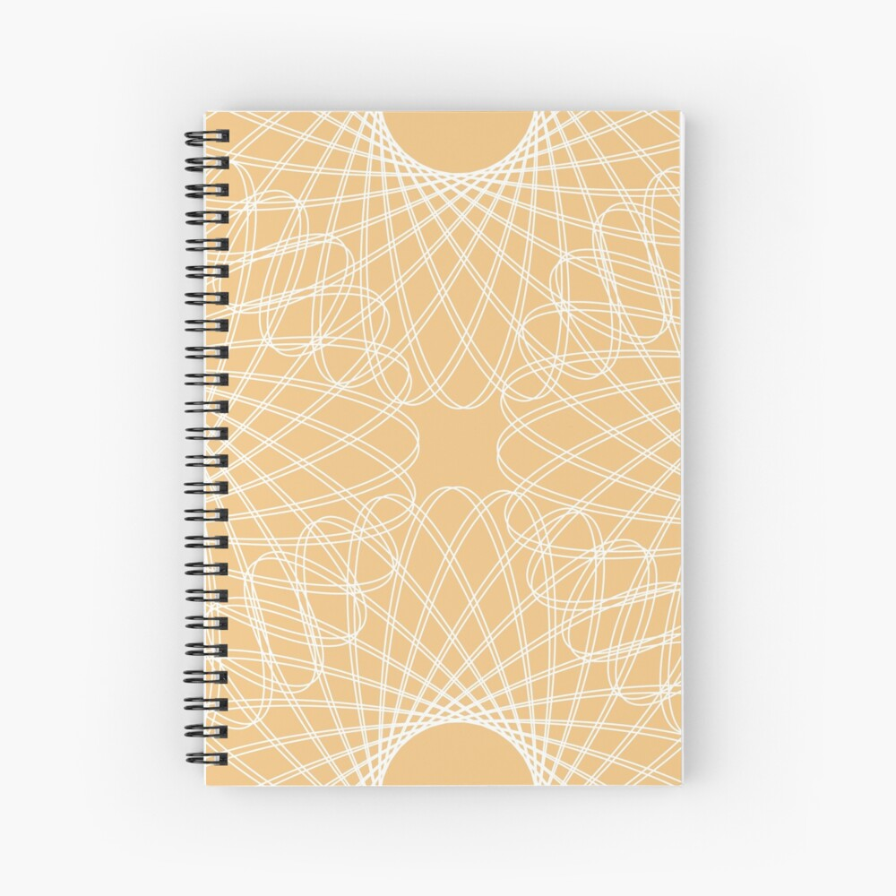 mathematical rotating roses - apricot Spiral Notebook