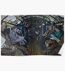 Glasgow Subway Commuters Poster