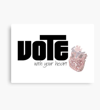 Voting By Conscience Canvas Print
