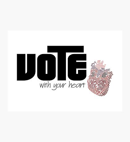 Voting By Conscience Photographic Print